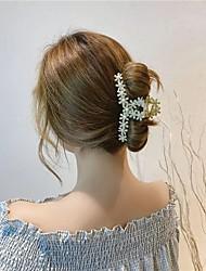 cheap -korea summer flower flower hairpin clip girl back head clip big hairpin shark clip korean hair accessories