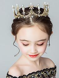 cheap -Kids Baby Girls' Crown Headgear Children's Princess Crystal Crown Baby Show Party Cute Little Girl Birthday Hair Accessories