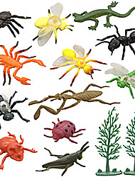 cheap -12 Pcs Assorted Realistic Insect Toy Figures, Educational Toy for Kids(Not Includes Trees)