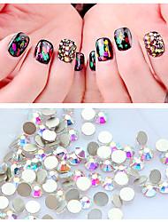 cheap -Nail Art Flat Colorful Crystal Symphony AB Crystal DIY Nail Art Nail Rhinestone Color Rhinestone