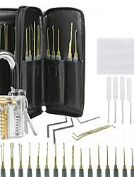 cheap -34 Pcs Lock Repair Sets Unlocking Practice Lock Pick Key Extractor Padlock Kit