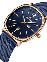 cheap -Reward men's watch business square waterproof date week dual calendar quartz watch
