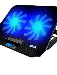 cheap -17 Inch Gaming Laptop Cooler Adjustable Speed 2 USB Ports and 2 Cooling Fan Laptop Cooling Pad Notebook Stand