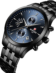 cheap -Reward men's multifunction sports watch stainless steel strap waterproof luminous calendar chronograph