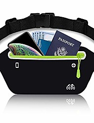 cheap -slim running belt fanny pack, fitness workout exercise waist pack bag for phone, ultra light runners belt for men women