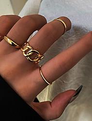 cheap -Midi Ring Vintage Style Gold Silver Alloy Twist Circle Statement Personalized Fashion 5pcs One Size / Women's