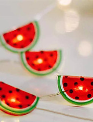 cheap -LED String Lights 2M 20LEDs AA Battery Powered LED Hanging Lights Watermelon String Fairy Light for Home Party Patio Bedroom Kid's Room Home Decoration Warm White