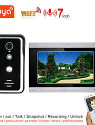 cheap -TUYA Video Intercom WIFI Video Door Phone System Home  Intercom with 7 Inch Touch Screen Display AHD 1080P Doorbell