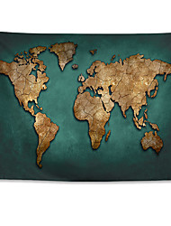 cheap -World Map Wall Tapestry Art Decor Blanket Curtain Hanging Home Bedroom Living Room Decoration Polyester