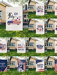 preiswerte -Saison Gartenflagge doppelseitige Außenferien Hofflagge Feiertage vertikale Flaggen