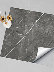 cheap -Hard Piece Marble Tile Stickers Black Gray Granite Wallpaper Self-adhesive Wall Stickers Removable Waterproof Stickers Home Kitchen Bathroom Brown Marble Wallpaper