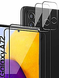 cheap -Phone Screen Protector For SAMSUNG S21 S21 Plus S21 Ultra Galaxy A32 Galaxy A52 Tempered Glass 4 pcs High Definition (HD) Scratch Proof Front & Camera Lens Protector Phone Accessory