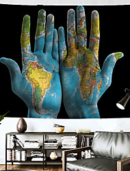 cheap -Wall Tapestry Art Decor Blanket Curtain Hanging Home Bedroom Living Room Decoration Polyester Holding a Map of the World