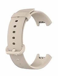 cheap -smartwatch band bracelet for xiaomi mi watch lite /redmi watch replacement bracelet smart watch accessories silicone smartwatch band bracelets sports wrist strap for mi watch lite/redmi watch - ivory