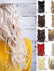 cheap -foreign trade europe and the united states cosplay light and breathable natural fishing line curly hair straight hair multi-color optional ponytail