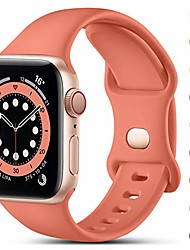 cheap -smartwatch band compatible with apple watch strap 38mm 40mm 42mm 44mm, replacement silicone strap for sports bracelets compatible with iwatch strap se series 6 5 4 3 2 1, 38mm / 40mm-m / l, coral