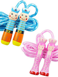 cheap -Kids Jump Ropes Animals Jumping Rope Adjustable Soft Skipping Rope Wooden Handle Cotton Ropes Fitness Equipment for Kids Children Students (2 Pack)