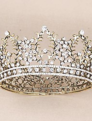 cheap -crowns for women, vofler queen tiara baroque vintage crystal rhinestone headband hair decor for lady girl bridal bride princess prom birthday wedding pageant christmas halloween costume party - bronze