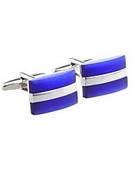 cheap -Men's Cufflinks Formal Classic Opal Brooch Jewelry Blue For Formal