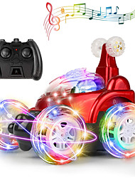 cheap -Remote Control Car for Kids, RC Stunt Car with 360 ° Rolling Dancing Performance Colorful Lights and Dynamic Music Rechargeable 2.4Ghz RC Car Toy for Boys and Girls (Red)