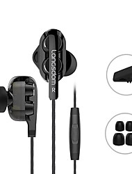 cheap -Langsdom D4 Wired In-ear Earphone 3.5mm Audio Jack Ergonomic Design Stereo Dual Drivers for Apple Samsung Huawei Xiaomi MI  Mobile Phone