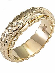 cheap -vanel hand engraved flowers ring for women girls, 14k gold plated exquisite rose flower promise band ring, hypoallergenic jewelry bride wedding engagement rings size 6-10 with gift box