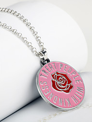 cheap -harry styles merch one direction gift treat people with kindness enamel necklace jewelry