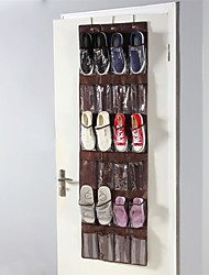cheap -Over The Door Shoe Organizer Hanging Closet Holder Hanger Storage Bag Rack with 24 Large Mesh Pockets