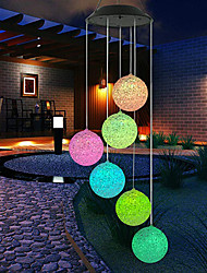 cheap -Outdoor Solar Lights Waterproof Colorful LED Ball Light Outdoor Hanging Lamp Balcony Garden Patio Room Decoration Wind Chime Light IP65 LED Solar Garden Light