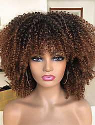 cheap -Curly Wigs for Black Women Short Kinky Curly Afro Wigs with Bangs 14inch Fashion Afro Full Wigs(88#)