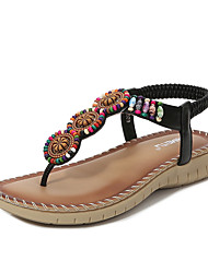 cheap -Women's Sandals PU Beading Almond Black Pink