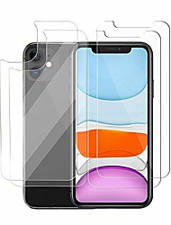 cheap -Phone Screen Protector For Apple iPhone 12 Pro Max 11 SE 2020 X XR XS Max 8 7 Tempered Glass 2 pcs High Definition (HD) Scratch Proof Front & Back Protector Phone Accessory