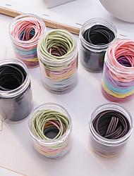 cheap -100 sen female color hair rope korean rubber band adult hair tie female cute ins style simple hair accessories