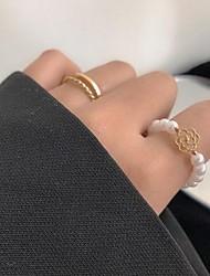 cheap -Adjustable Ring Imitation Pearl Alloy Flower Stylish Sweet 1pc Adjustable / Women's