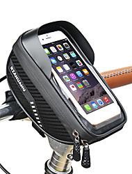 cheap -1.2 L Bike Frame Bag Top Tube Touch Screen Reflective Waterproof Bike Bag EVA Bicycle Bag Cycle Bag Outdoor Exercise
