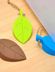 cheap -1Pc Baby Safe Doorways leaves Silicone  Shape Home Improvement Door Stop Hardware Creative Door Stoppers