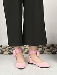cheap -Women's Flats Flat Heel Pointed Toe PU Synthetics Red Black Pink