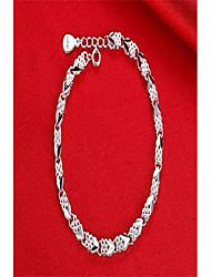 cheap -lvting women's charm bracelet bracelet for women teen girls 925 silver interlocking geometric link bracelet lobster clasp lucky four-leaf clover heart-shaped bracelet 7.5 inch (four leaf clover)