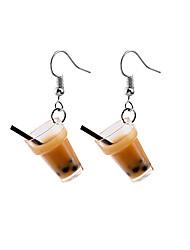cheap -Bubble Tea Drop Earrings Earrings Cup Fashion Trendy Cute Earrings Jewelry Coffee For Street Date Vacation 1 Pair