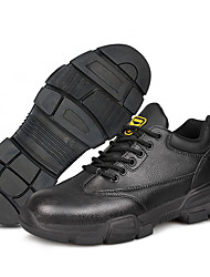 cheap -Safety Work Boots Steel Toe Cap Trainers For Mens Sporty Office & Career PU Suede Water Proof Non-slipping Booties Ankle Boots Summer Fall Spring