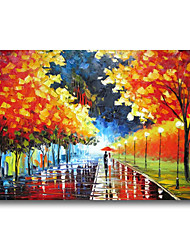 cheap -Oil Painting Handmade Hand Painted Wall Art Architecture 3D Palette Home Decoration Dcor Stretched Frame Ready to Hang