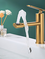 cheap -Bathroom Sink Faucet - Rotatable Electroplated / Painted Finishes Centerset Single Handle One HoleBath Taps