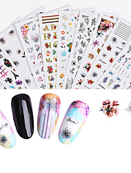 cheap -Nail Art Decals 3D Stereo Waterproof Retro Style Nail Stickers Nail Art Accessories Nail Patch