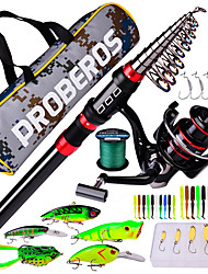 cheap -Fishing Rod and Reel Combo Telescopic Rod 180/210/240/270/300/360 cm Carbon Fiber Portable Lightweight Freshwater and Saltwater Sea Fishing