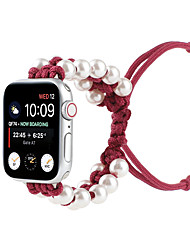 cheap -Smart Watch Band for Apple iWatch 1 pcs Weave Bracelet Elastic Beaded Replacement  Wrist Strap for Apple Watch Series 7 / SE / 6/5/4/3/2/1
