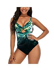 cheap -2021 new swimsuit women amazon sexy swimwear european and american cross-border one-piece swimsuit conservative retro plus size swimwear