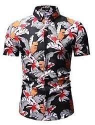 cheap -men's casual shirts mens summer beach hawaiian shirt brand short sleeve plus size floral men holiday vacation clothing camisas