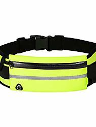 cheap -running belt waist packs,workout fanny pack,ultra light bounce free waist pouch fitness workout belt sport waist pack for women men,adjustable waistband bag for all kinds of phone (neon green)