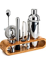 cheap -Insulated Cocktail Shaker Mixer Bartender Kit 10pcs Cocktail Shaker Mixer Stainless Steel 550ml Bar Tool Set with Stylish Bamboo Stand Perfect Home Bartending Kit and Martini Cocktail Shaker Set