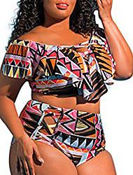 cheap -Women's Monokini Swimsuit lattice Snake skin White Black Swimwear Bathing Suits New Sexy / Padded Bras
